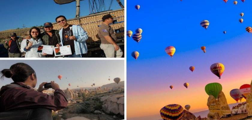 Kapadokya Balonda Doğum Günü Kutlaması