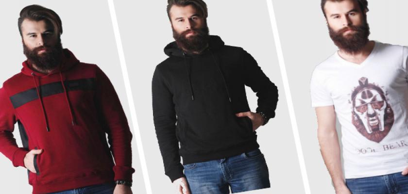 Fermuarlı Kapüşonlu Erkek Tişört Modelleri