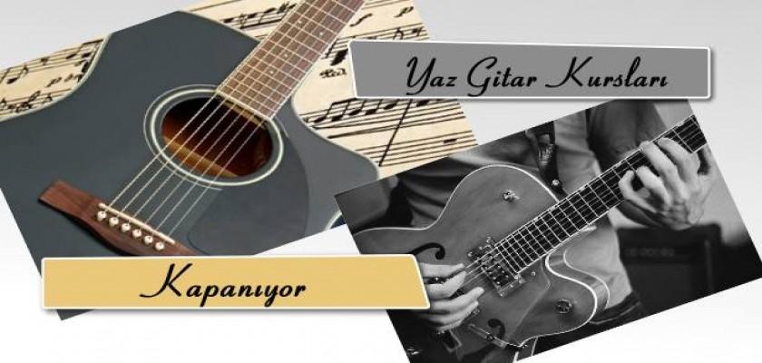 Yaz Gitar Kursları Kapanıyor